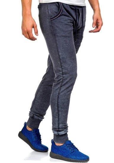 Spodnie dresowe męskie granatowe Denley 5284