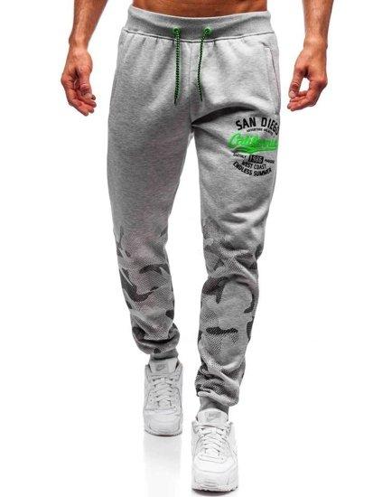 Spodnie dresowe męskie szare Denley 55060