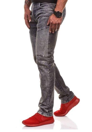 Spodnie jeansowe męskie antracytowe Denley 4155-1