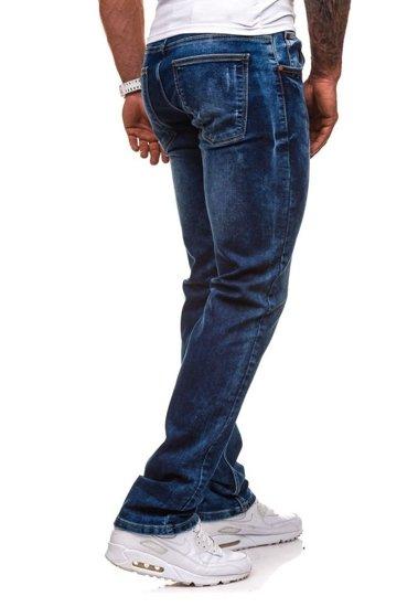Spodnie jeansowe męskie granatowe Denley 4447