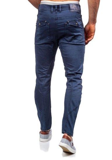 Spodnie materiałowe męskie grafitowe Denley 8381