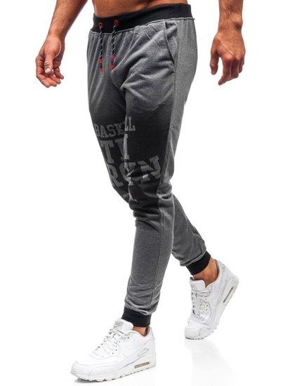 Spodnie męskie dresowe grafitowe Denley 300130