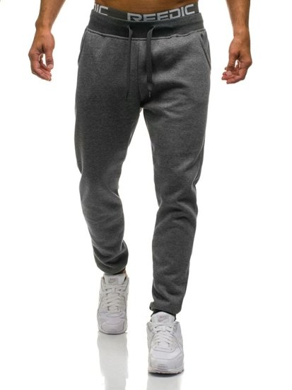 Spodnie męskie dresowe grafitowe Denley KK01