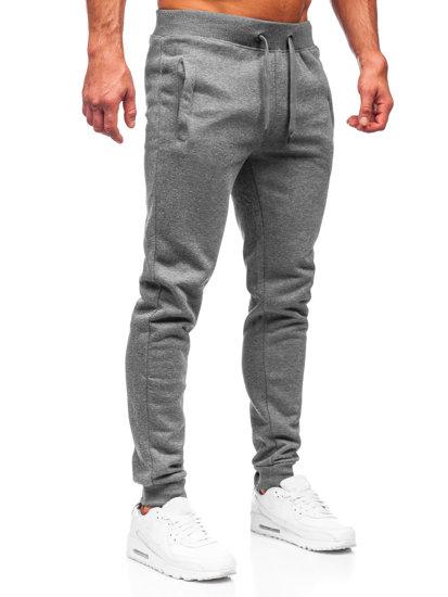 Spodnie męskie dresowe grafitowe Denley XW01-A