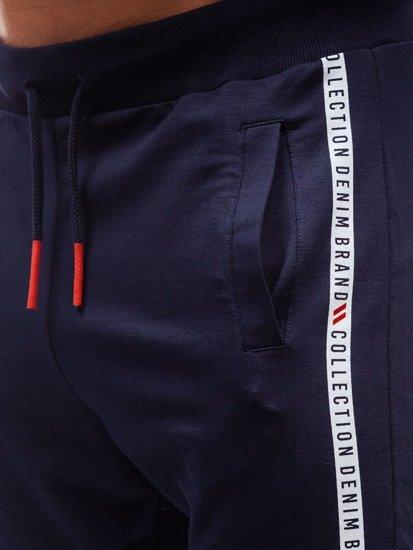 Spodnie męskie dresowe granatowe Denley 6821