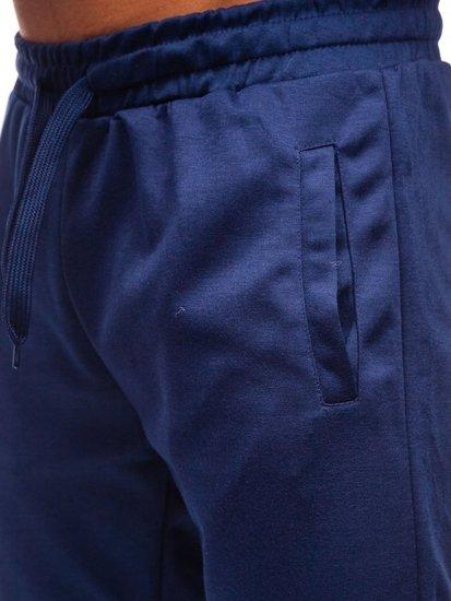 Spodnie męskie dresowe granatowe Denley JZ11001
