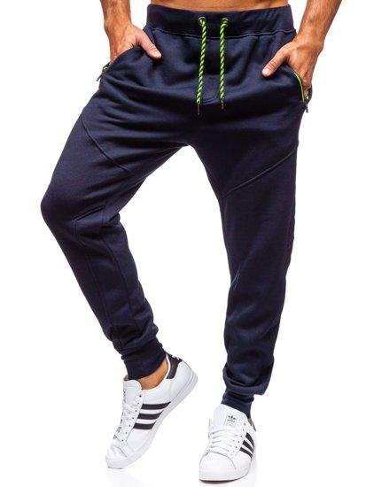 Spodnie męskie dresowe joggery granatowe Denley 1928