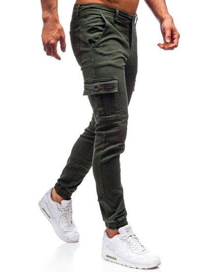 Spodnie męskie joggery zielone Denley 2039