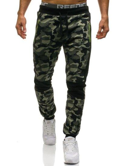 Spodnie męskie zielone Denley W1373
