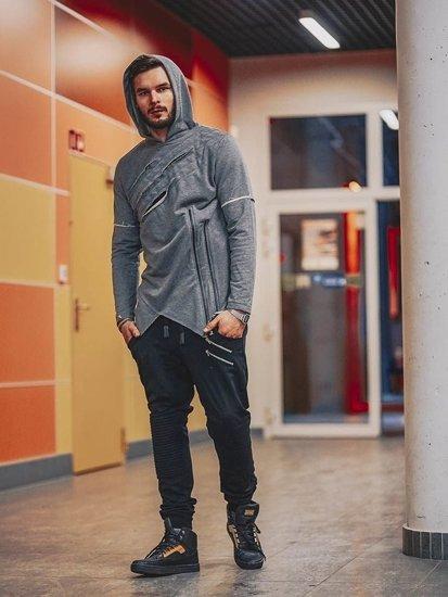 Stylizacja nr 140 - bluza z kapturem, spodnie baggy, buty snekaersy