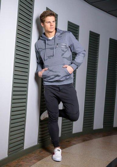 Stylizacja nr 170 - bluza z kapturem, spodnie dresowe joggery, buty sportowe