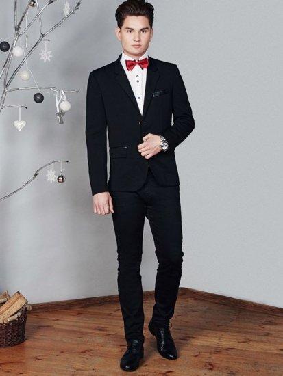 Stylizacja nr 374 - muszka, marynarka, koszula, spodnie chinosy