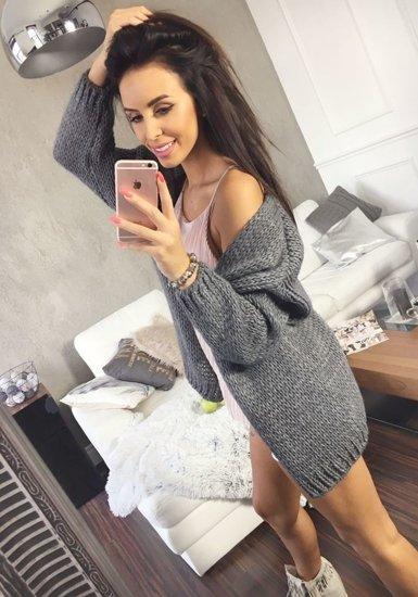 Sweter damski antracytowy Denley 01