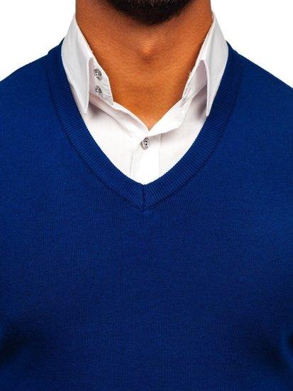 Sweter męski bez rękawów niebieski Denley H1950