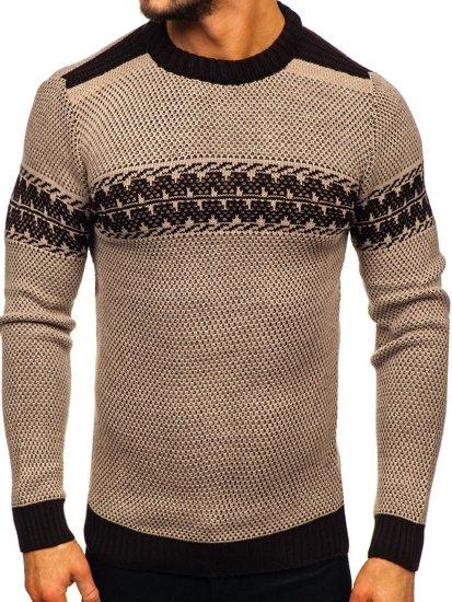 Sweter męski beżowy Denley 1806