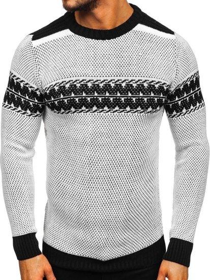 Sweter męski biały Denley 1806