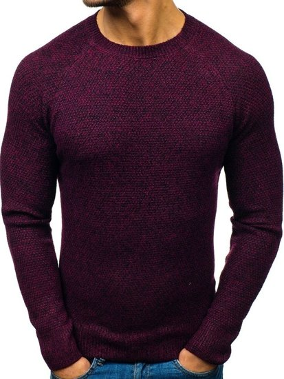 Sweter męski bordowy Denley H1810