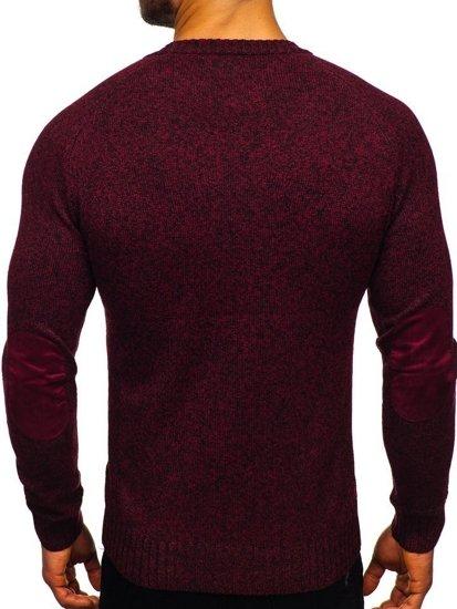 Sweter męski bordowy Denley H1929