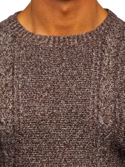 Sweter męski brązowy Denley H1937
