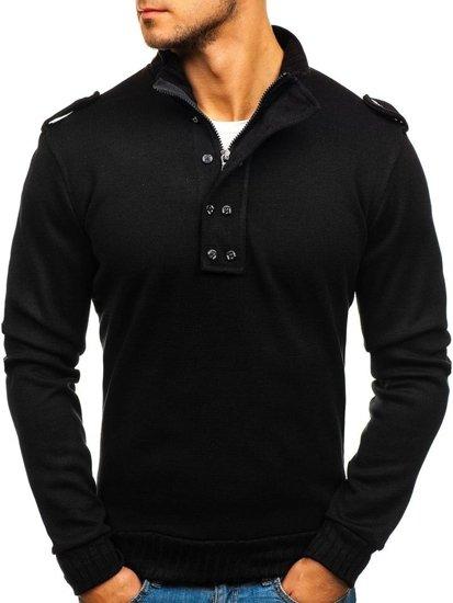 Sweter męski czarny Bolf 1132