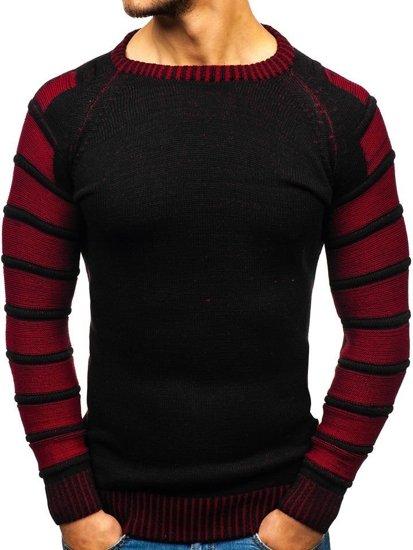 Sweter męski czarny Denley 6007