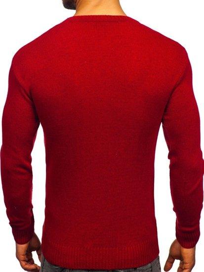 Sweter męski czerwony Denley 0001