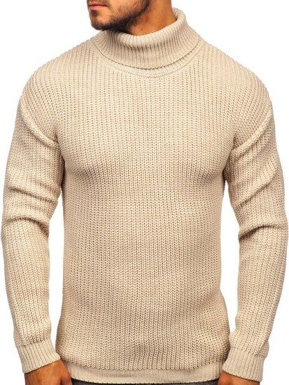 Sweter męski golf beżowy Denley 4368