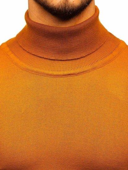 Sweter męski golf camelowy Denley 2400
