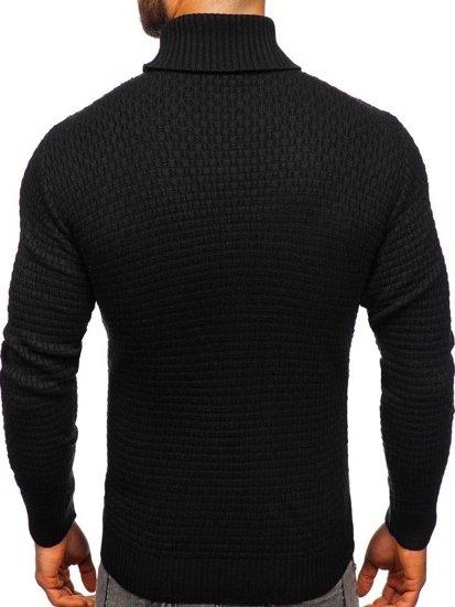 Sweter męski golf czarny Denley 323