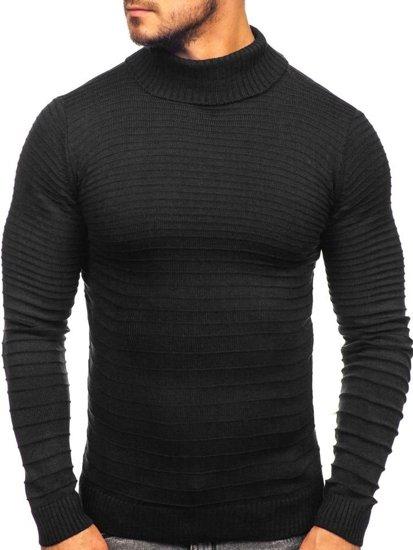 Sweter męski golf czarny Denley 4518