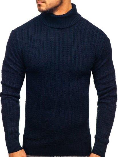 Sweter męski golf granatowy Denley 315