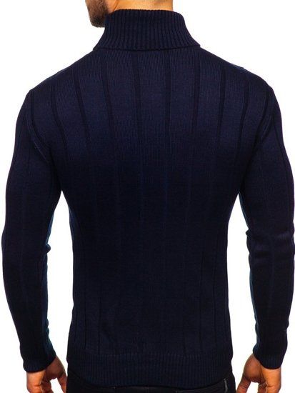 Sweter męski golf granatowy Denley 5021