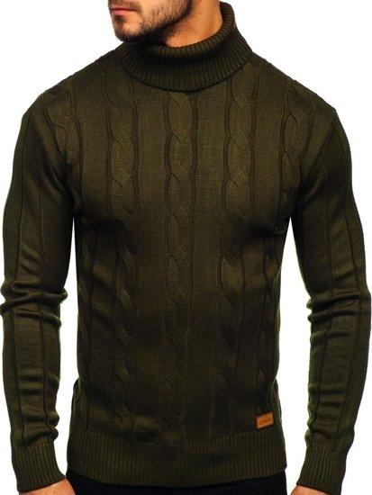Sweter męski golf khaki Denley 5021