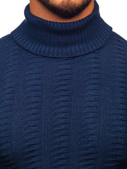 Sweter męski golf niebieski Denley 314