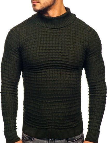 Sweter męski golf zielony Denley 4529