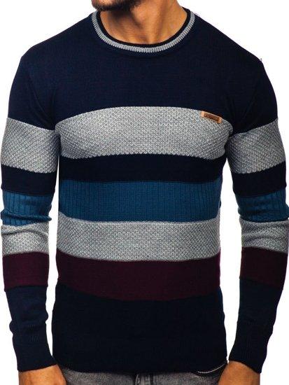 Sweter męski granatowy Denley 04
