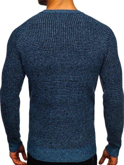 Sweter męski niebieski Denley H1932
