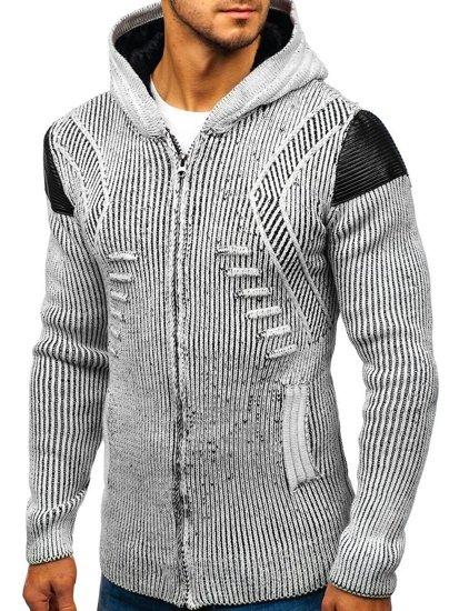 Sweter męski szaro-czarny Denley 20009