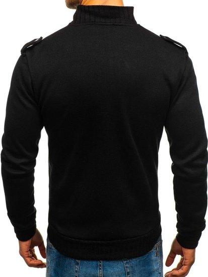 Sweter męski ze stójką czarny Bolf 1132