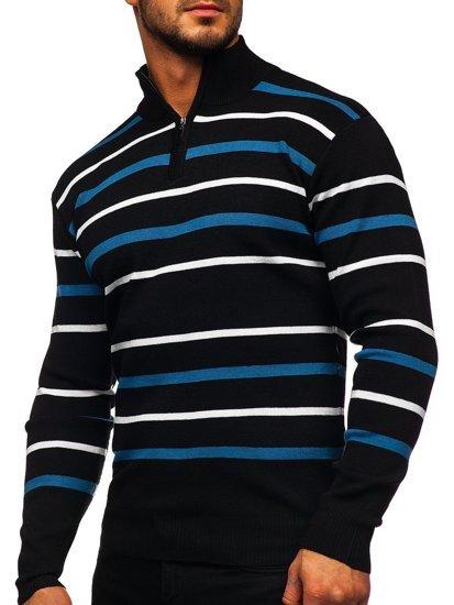Sweter męski ze stójką czarny Denley W05
