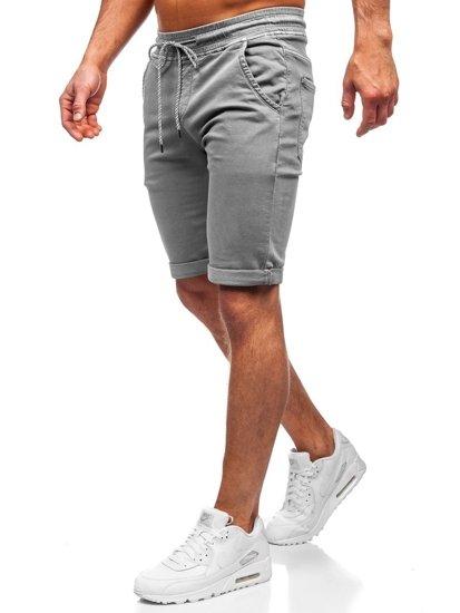 Szare krótkie spodenki męskie szorty Denley KG3723