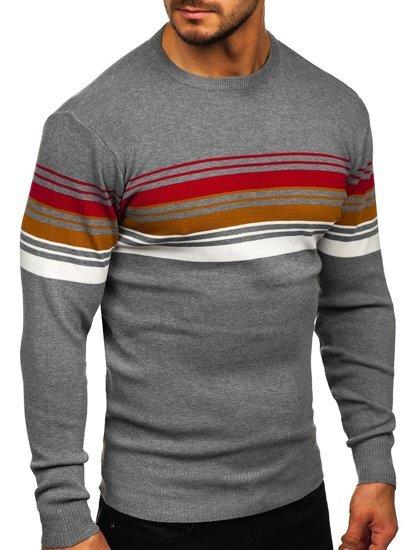 Szary sweter męski Denley H2061