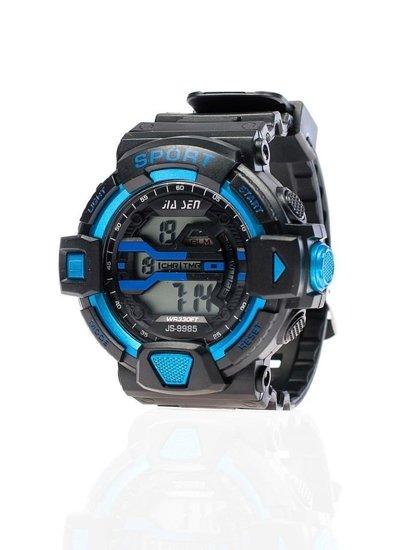 Zegarek męski na rękę czarno-niebieski Denley 9985