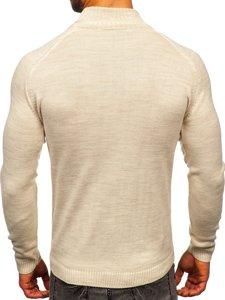 Beżowy sweter męski golf Denley 1008