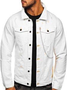 Biała jeansowa kurtka męska Bolf 3-4