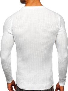 Biały sweter męski Denley 4603