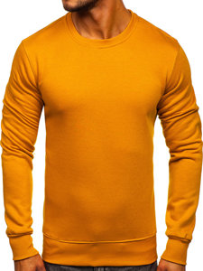 Bluza męska bez kaptura camelowa Denley 2001