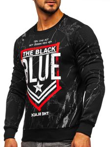 Bluza męska bez kaptura czarna Denley DD260