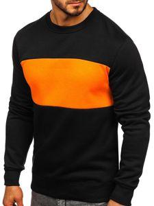 Bluza męska bez kaptura czarno-pomarańczowa Denley 2010