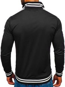 Bluza męska bez kaptura rozpinana czarna Bolf 11112